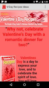 V-day Recipe Ideas for PC-Windows 7,8,10 and Mac apk screenshot 1