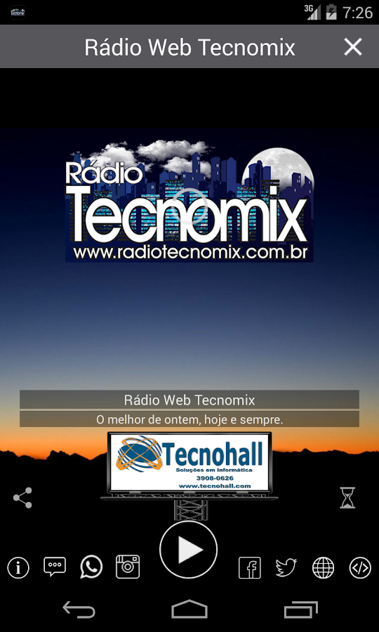 Radio Web Tecnomix- screenshot