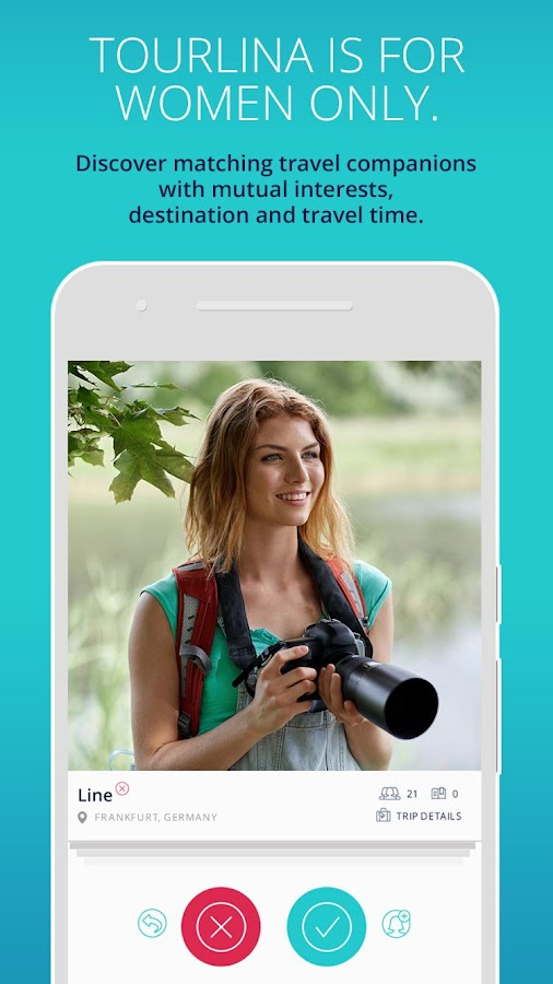 Tourlina - Female Travel App- screenshot