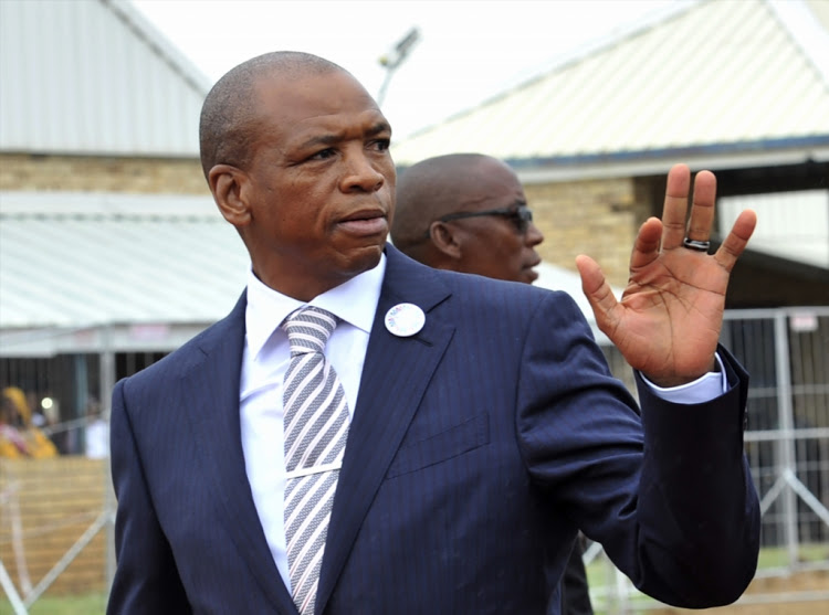 Supra Mahumapelo during the State of the Province Address in Marikana on February 25, 2018 in North West, South Africa.