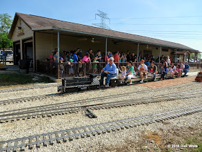 Photo: Engineer Gary Brothers leaving the station.    HALS Public Run Day 2014-0419 RPW  10:16 AM