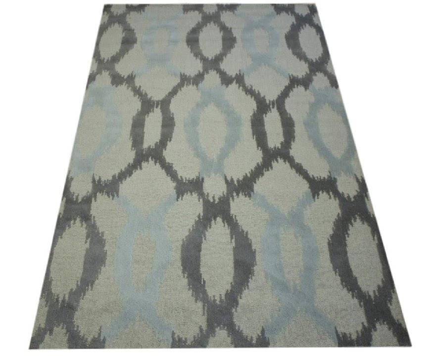100% wełnany nowoczesny dywan z Indii ręcznie taftowany 150x240cm beżowy