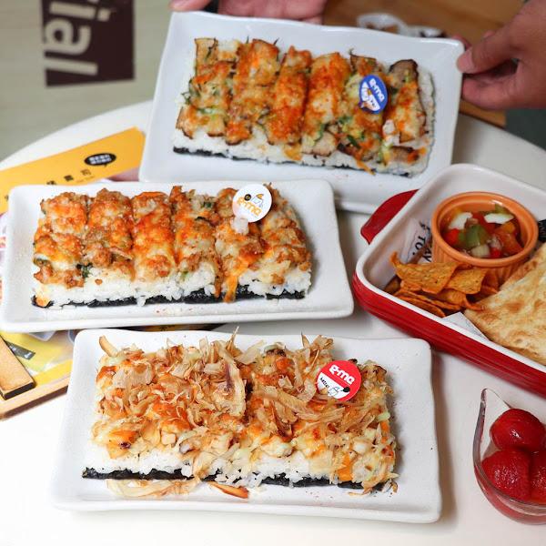 超罪惡!會牽絲的焗烤壽司焗米G-me台南首創的創意壽司,口味多樣大份量有飽足感!