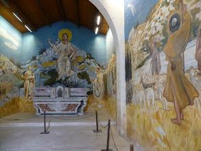 Photo: Murs décorés par le peintre provençal Yves Brayer