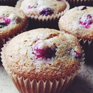 Vegan Cornmeal Meyer Lemon-Cranberry Muffins.