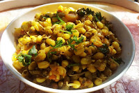 Sprouted Green Gram Sabzi