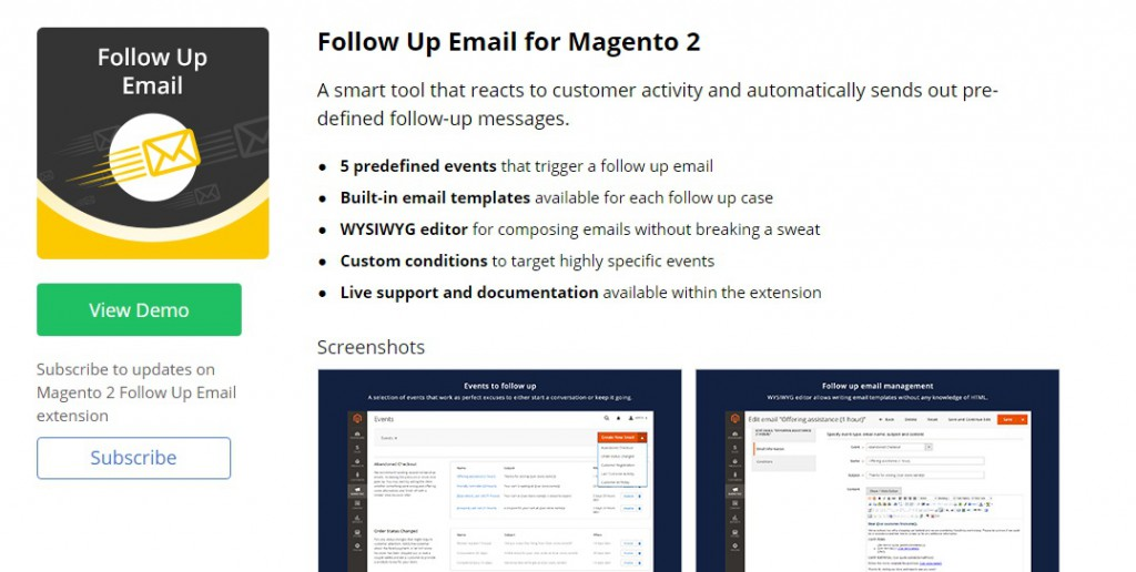Follow Up Email Magento 2 module
