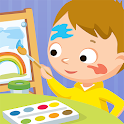 Smart Grow: Drawing & Coloring for Kids, no ads icon