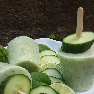 Cucumber Coconut Mint Ice Pops.