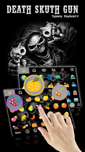 Death Skull Gun Theme&Emoji Keyboard - náhled