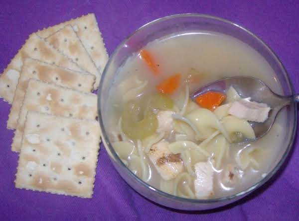 Easy Chicken Noodles And Cream Soup. Recipe
