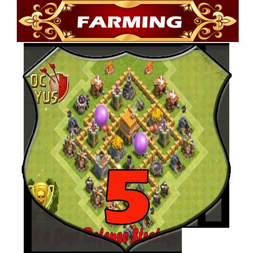 Town Hall 5 Farming Base Layouts