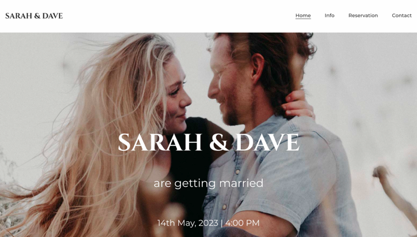 This site has photo of the couple looking at each other with warm eyes.