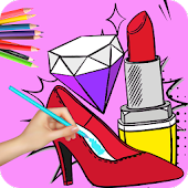 Beauty Coloring Books: Fashion Coloring Pages