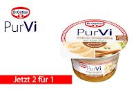 Angebot für 2 für 1 PurVi Vollkorn-Grießpudding Apfel-Zimt im Supermarkt