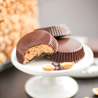 Healthy Homemade Peanut Butter Cups.