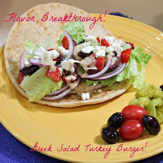Greek Salad Turkey Burger!.