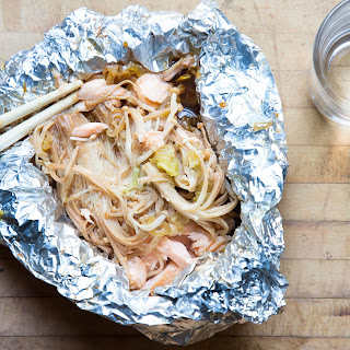 Salmon, Scallion, and Enoki Mushroom Foil Yaki.