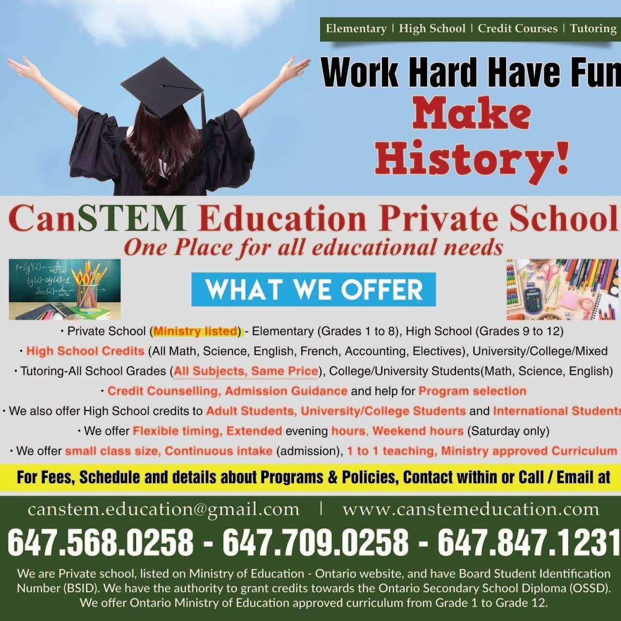 CanSTEM Education Private School - School in Brampton