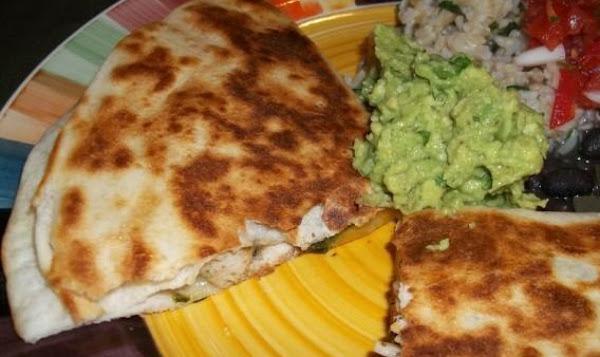 Chicken And Poblano Quesadillas With Guacamole Recipe
