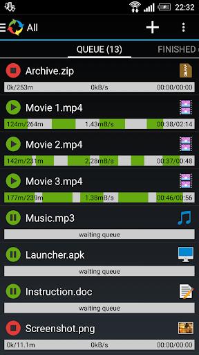 Advanced Download Manager Holo 4.1.9o screenshots 1