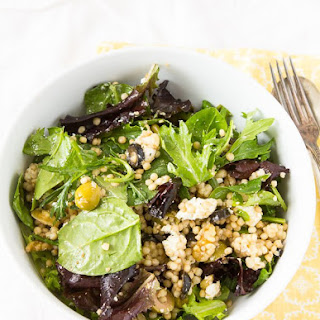 Pearl Couscous Salad With Olives.