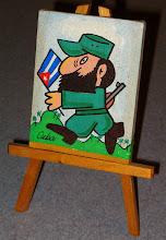 Photo: painting of fidel castro. Tracey Eaton photo.