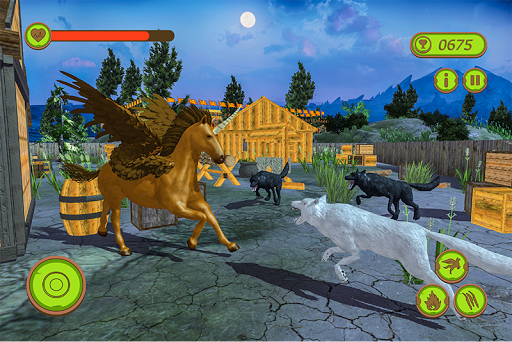 Flying Unicorn Horse Family Jungle Survival 4.0 screenshots 4