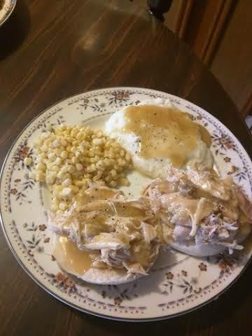 Roasted Chicken, Biscuits & Gravy