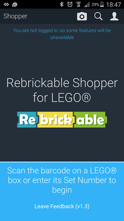 Rebrickable Shopper- screenshot