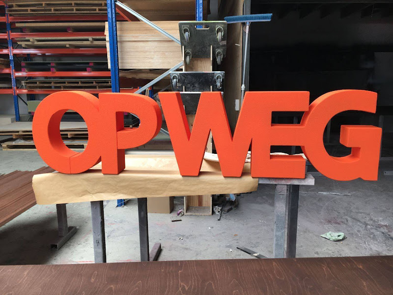 3D letters & logo's uit EPS en XPS - 3D letters voor fotoshoot