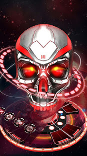 Red tech hell skull theme >> Profile Super cool red metal technology skull launcher theme to personalize your Android phone, this 3D red cool skull launcher ...