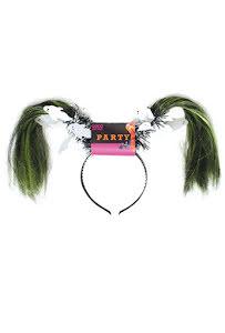 Diadem, grönt hår med spöken