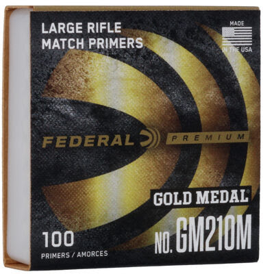 Federal Primers 210 Large Rifle Gold Medal Match