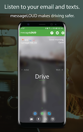 messageLOUD: Read Texts & E-Mails While You Drive. Screenshot