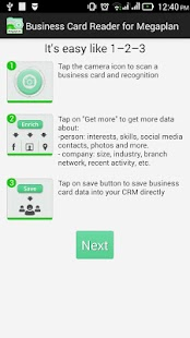 Free Business Card Reader for Megaplan CRM- screenshot thumbnail