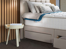 Divan Bed With Drawers with a bedside table next to it