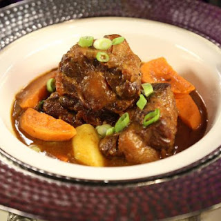 Spicy Jamaican Oxtail Curry.