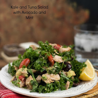 Kale and Tuna Salad with Avocado and Mint.