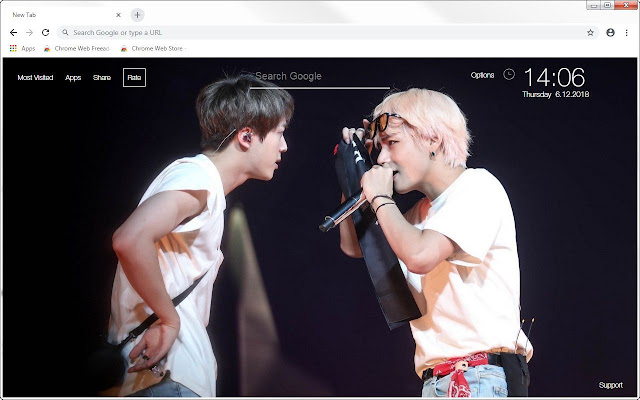 BTS V & Jin HD Wallpapers TaeJin New Tab