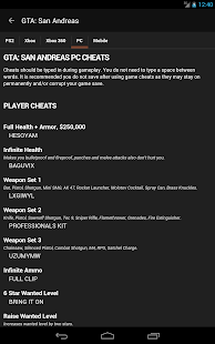 Cheats for GTA- screenshot thumbnail