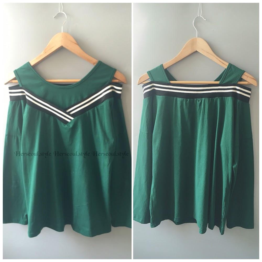 🈹綠色水手top
