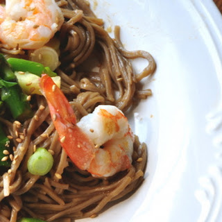Spring Soba Noodles with Shrimp & Asparagus