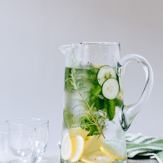 Lemony Herb Cucumber Water.