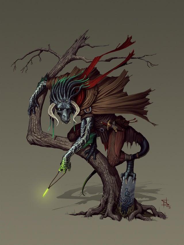 r/DnD - [ART] Dragonborn Warlock