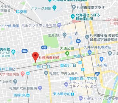地図:札幌市資料館