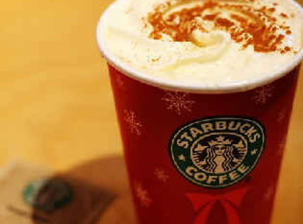 Starbucks Eggnog Latte  It's a seasonal wonder that disappears right after the New Year's...
