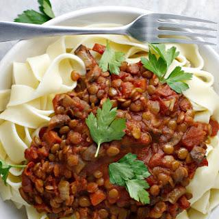 Crock Pot Lentil Bolognese ~vegan~