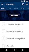 Screenshot of Life Changers Church App