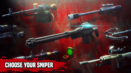 Zombie Hunter Sniper Mod Apk (Unlimited Money + Gold) 4